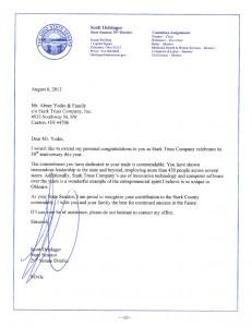 Ohio State Senator Congratulations